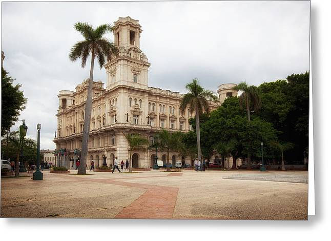 Historic Architecture Greeting Cards - Palacio Del Centro Asturiano - Havana Greeting Card by Mountain Dreams