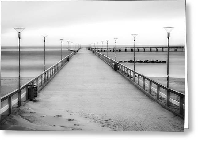 Lithuania Greeting Cards - Palanga Pier Greeting Card by Justas Samalius