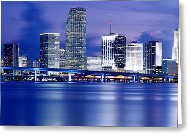 Panoramic View Of An Urban Skyline At Greeting Card by Panoramic Images