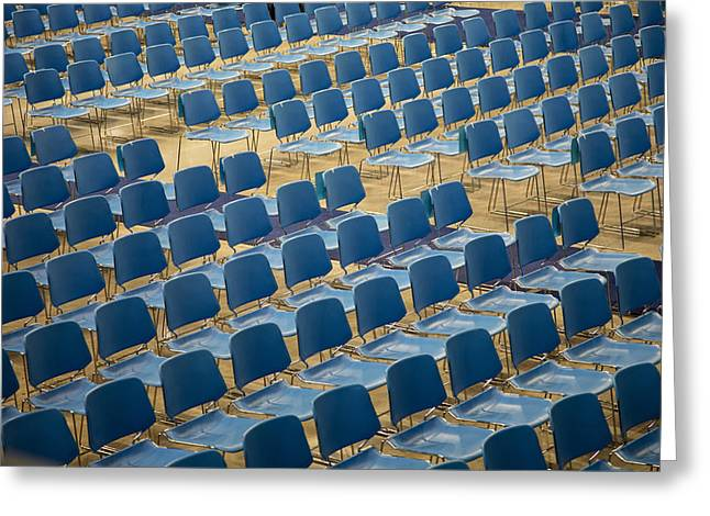 Open Air Theater Greeting Cards - Patterned Chairs Greeting Card by Diana Hughes
