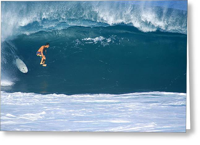 Banzai Pipeline Greeting Cards - Pau Greeting Card by Kevin Smith