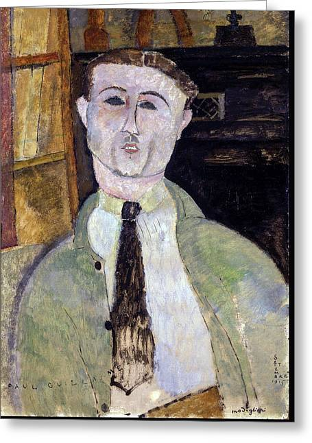 20th Greeting Cards - Paul Guillaume  Greeting Card by Amedeo Modigliani