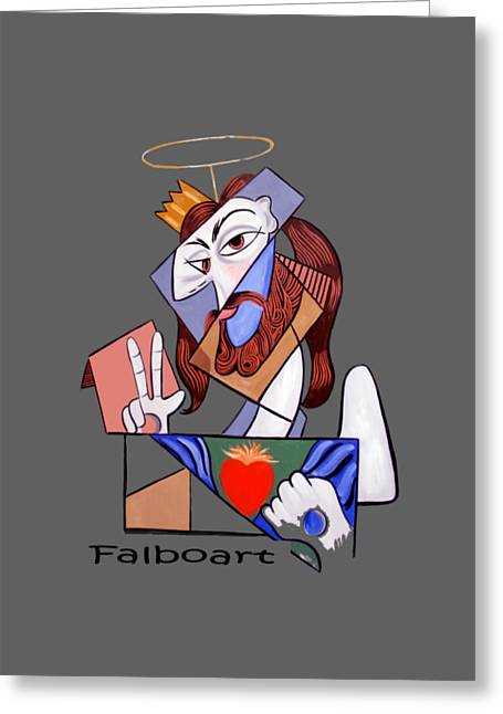 Peace Be With You Greeting Card by Anthony Falbo