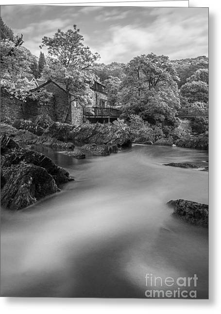White River Scene Greeting Cards - Peaceful Waters Greeting Card by Ian Mitchell