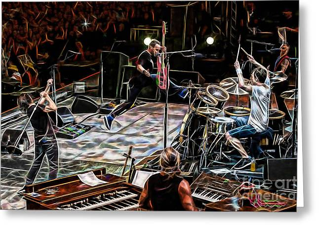Pearl Jam Mixed Media Greeting Cards - Pearl Jam Collection Greeting Card by Marvin Blaine