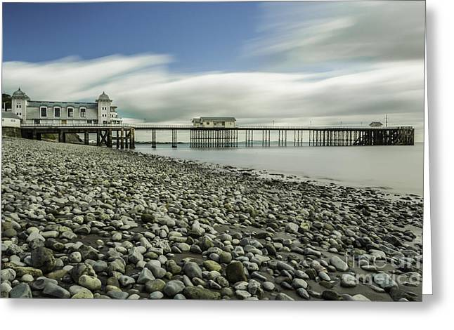 Iron Greeting Cards - Penarth Pier 6 Greeting Card by Steve Purnell