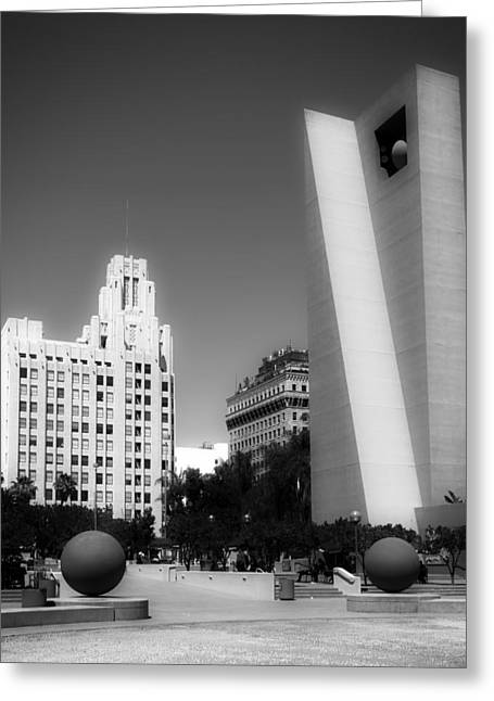 Pershing Greeting Cards - Pershing Square Los Angeles Greeting Card by Mountain Dreams