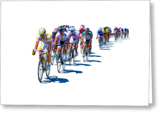 Bill Cannon Photography Greeting Cards - Philadelphia Bike Race Greeting Card by Bill Cannon