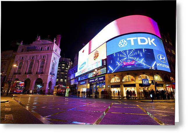 Piccadilly Circus Greeting Card by Stuart Monk