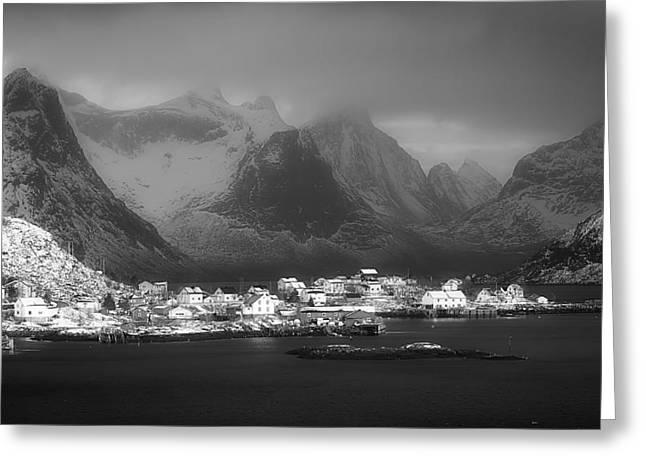 Lofoten Greeting Cards - Picturesque Lofoten Norway Greeting Card by Gustav Melin