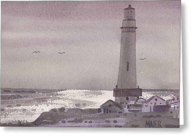 Pigeon Point Lighthouse Greeting Cards - Pigeon Point Light Greeting Card by Donald Maier