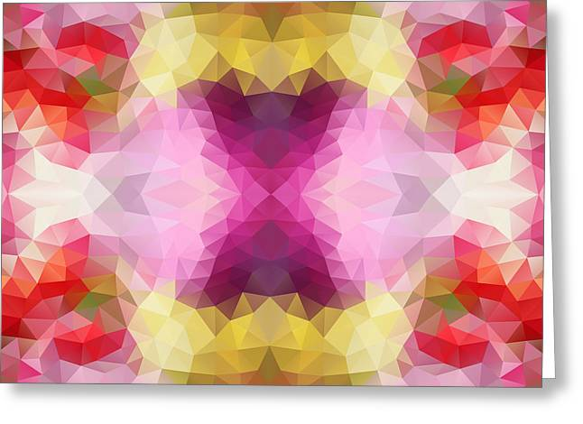 Abstract Geometric Greeting Cards - Pink pattern Greeting Card by Veronika Limonov