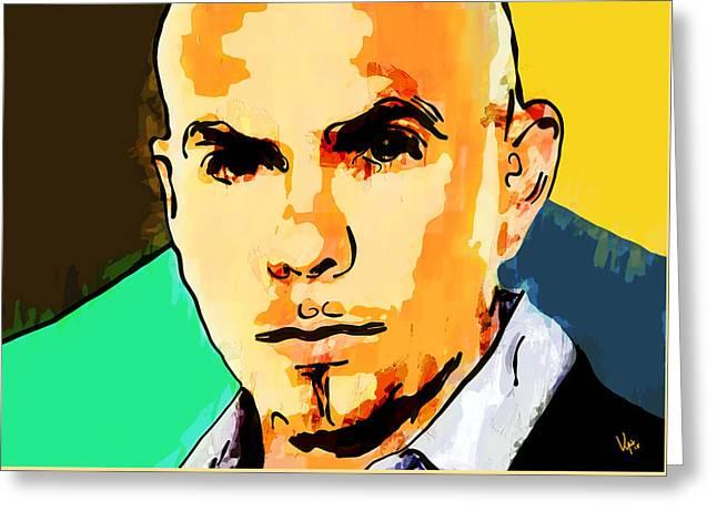 Pitbull Singer Greeting Cards - Pitbull Greeting Card by Vya Artist