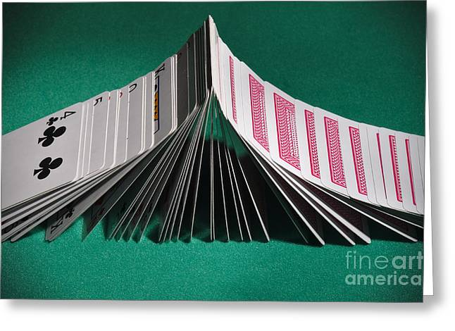 Playing Cards Domino Greeting Card by Angelo DeVal