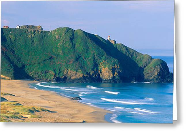 Point Sur Lighthouse At Big Sur Greeting Card by Panoramic Images