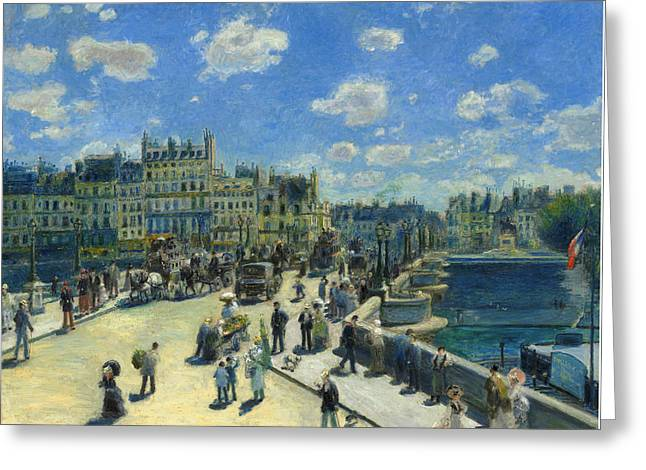 Famous Artist Greeting Cards - Pont Neuf -  Paris Greeting Card by Auguste Renoir