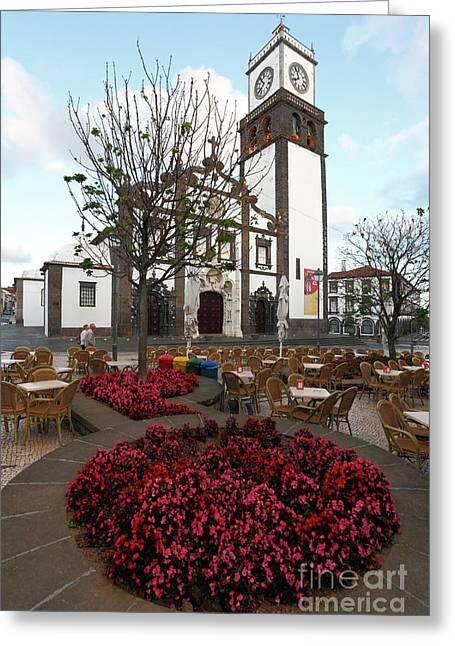 Empty Chairs Greeting Cards - Ponta Delgada - Azores Greeting Card by Gaspar Avila