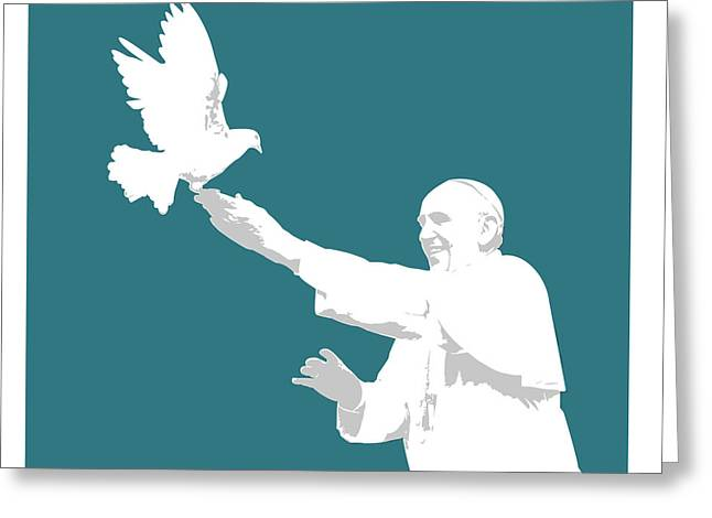 Pope Francis Greeting Card by Greg Joens