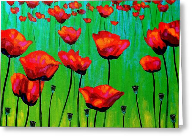 Poppy Dance Greeting Card by John  Nolan