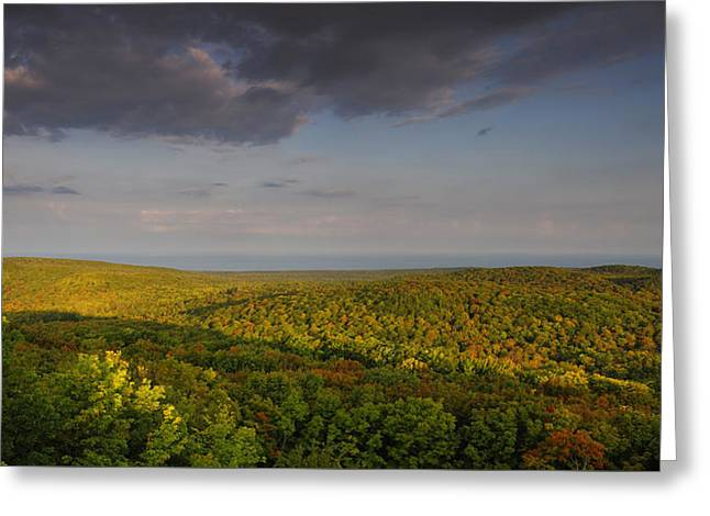 Usa Photographs Greeting Cards - Porcupine Mountains Greeting Card by Christian Heeb