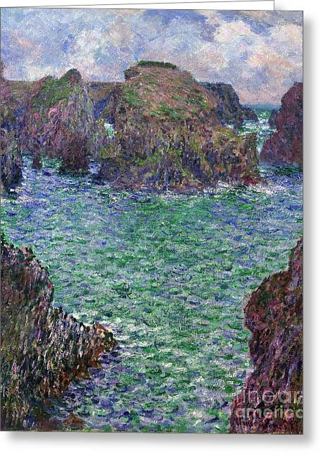 Vintage Painter Greeting Cards - Port-Goulphar - Belle Ile Greeting Card by Claude Monet