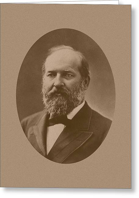 Garfield Greeting Cards - President James Garfield Greeting Card by War Is Hell Store