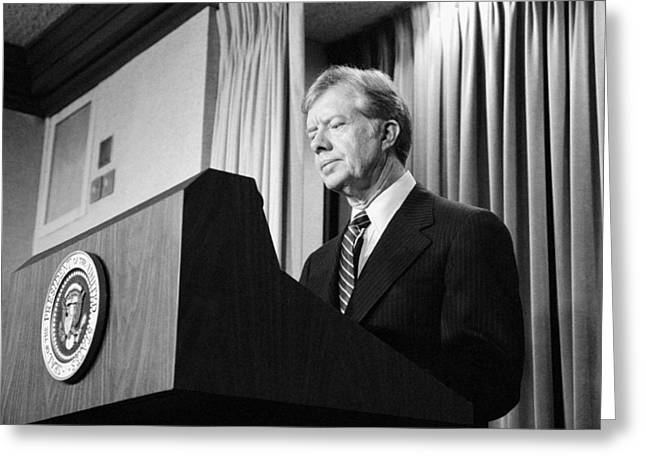 Carter Photographs Greeting Cards - President Jimmy Carter Greeting Card by War Is Hell Store