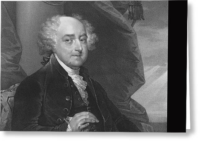 Adam Paintings Greeting Cards - President John Adams Greeting Card by War Is Hell Store
