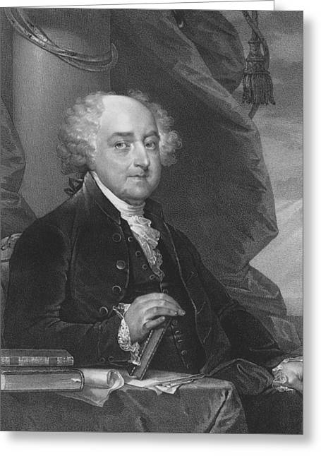 Adam Greeting Cards - President John Adams Greeting Card by War Is Hell Store