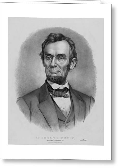 Us History Drawings Greeting Cards - President Lincoln Greeting Card by War Is Hell Store