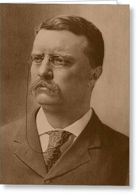 President Theodore Roosevelt Greeting Card by War Is Hell Store