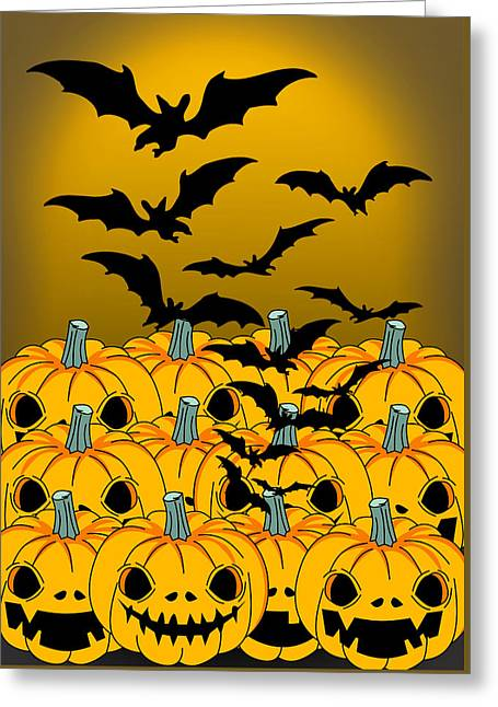 Pumpkin Greeting Card by Mark Ashkenazi