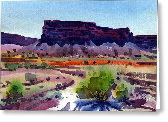 Butte Greeting Cards - Purple Butte Greeting Card by Donald Maier