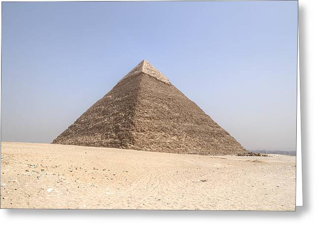 Pyramids Greeting Cards - Pyramid of Khafre - Egypt Greeting Card by Joana Kruse