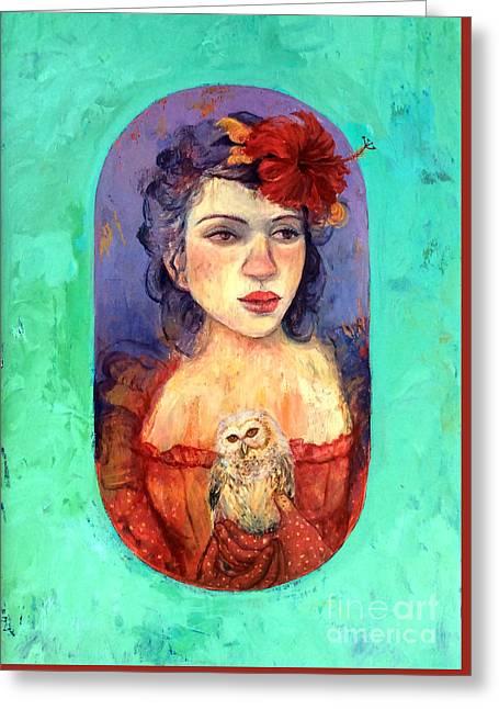Queen Of Wisdom Greeting Card by Tonya Engel
