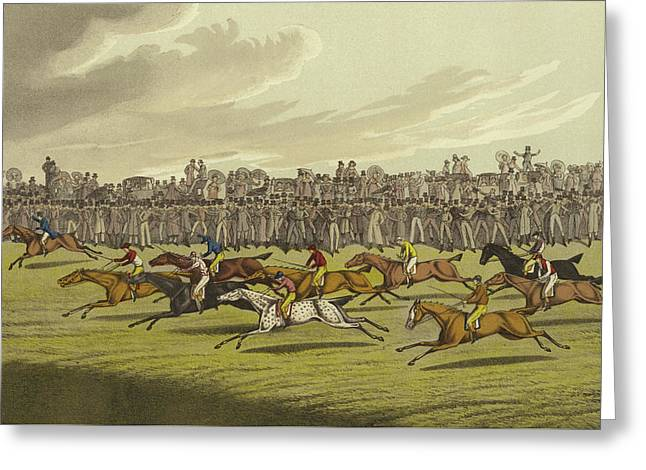 Racing Greeting Card by Henry Thomas Alken
