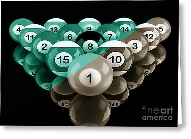 Pool Greeting Cards - Rackem Up Collection Greeting Card by Marvin Blaine