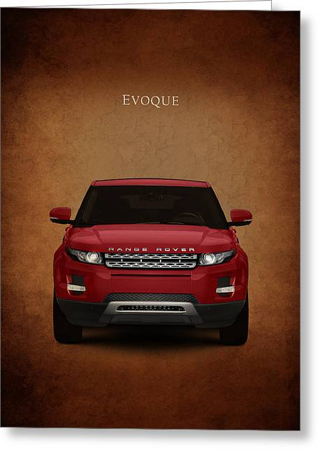 Ranges Greeting Cards - Range Rover Evoque Greeting Card by Mark Rogan