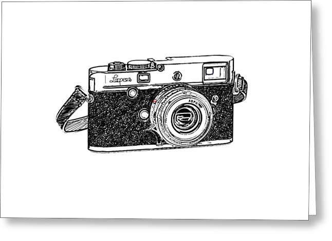Rangefinder Camera Greeting Card by Setsiri Silapasuwanchai