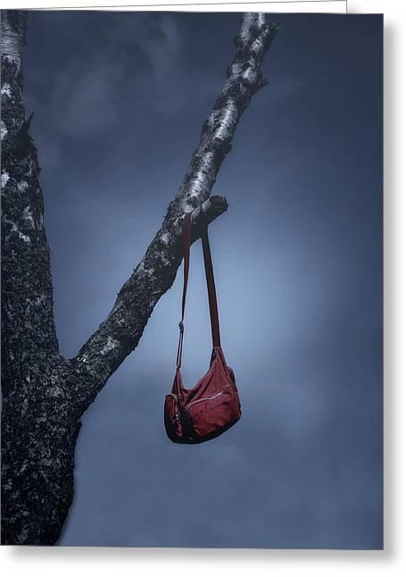 Red Bag Greeting Cards - Red Bag Greeting Card by Joana Kruse