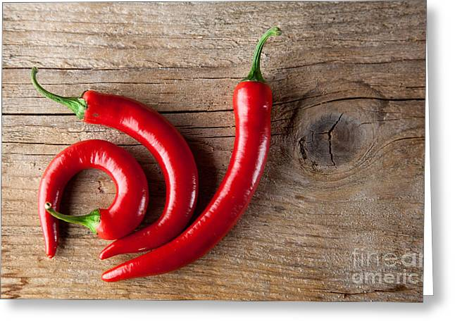 Paprika Greeting Cards - Red Chili Pepper Greeting Card by Nailia Schwarz