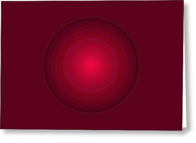 Red Circles Greeting Card by Frank Tschakert