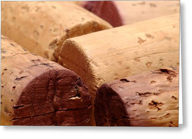 Grand Cru Greeting Cards - Red Wine Corks Greeting Card by Frank Tschakert