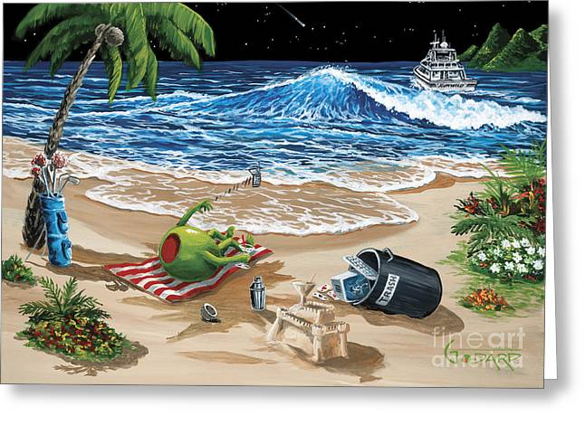 Rehab Greeting Card by Michael Godard