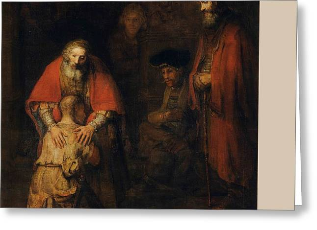 Return Of The Prodigal Son Greeting Card by Rembrandt Van Rijn