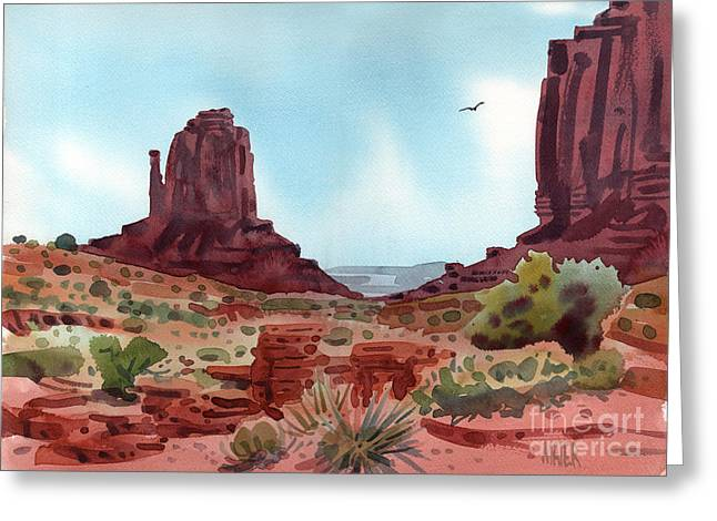 Navajo Tribal Park Greeting Cards - Right Mitten Greeting Card by Donald Maier