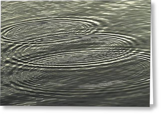 Ripple Effect Greeting Card by John Glass