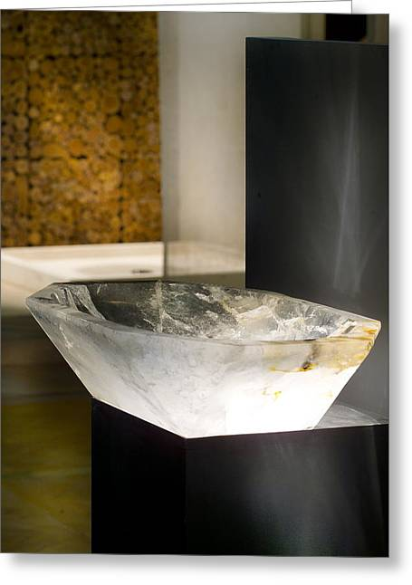 Stone Ceramics Greeting Cards - Rock Crystal Washbasin Greeting Card by Piotr Marek