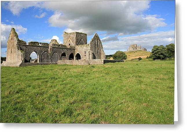 Hores Greeting Cards - Rock of Cashel Greeting Card by John Quinn