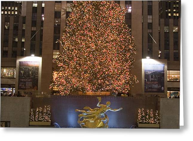Rockefeller Center And The Famous Greeting Card by Taylor S. Kennedy